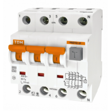 Выключатель автоматический дифференциальный АВДТ 63 3п+N 16А C 300мА тип A | SQ0202-0025 | TDM
