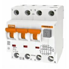 Выключатель автоматический дифференциальный АВДТ 63 3п+N 16А C 100мА тип A | SQ0202-0021 | TDM