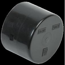 Заглушка для двустенной трубы d110 | CTA12D-Z110-K02-1 | IEK