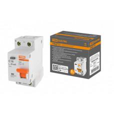 Выключатель автоматический дифференциальный АВДТ 32 1п+N 16А C 30мА тип АС 4,5кА   SQ0202-0503   TDM