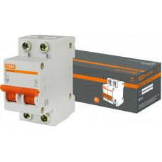 Выключатель автоматический двухполюсный ВА47-63 6А C 4,5кА | SQ0218-0026 | TDM