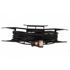 Удлинитель-шнур на рамке силовой народный ПВС 1300 Вт б/з, 40м, штепс. гнездо | SQ1307-0304 | TDM