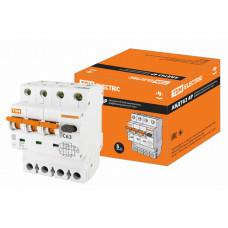 Выключатель автоматический дифференциальный АВДТ 63 3п+N 63А C 30мА тип A | SQ0202-0055 | TDM