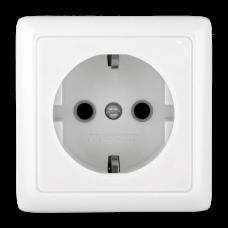 ХИТ О/У без изол. пласт. Белый Розетка с/з без шторок, 16А, 250В | RA16-133-B | Schneider Electric