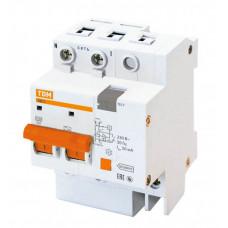 Выключатель автоматический дифференциальный АД-2 2п 16А C 30мА тип AC (4 мод) | SQ0221-0001 | TDM