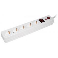 Сетевой фильтр СФ-05К-выкл. 5 мест 2Р+PЕ/1,5метра 3х1мм2   WFP10-16-05-01-N   IEK