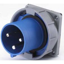 Вилка для скрытой проводки 633 2Р+РЕ 63А 220В IP67 В | 26065DEK | DEKraft