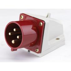 Вилка стационарная 514 3Р+РЕ 16А 380В IP44 ВС-102 | 26020DEK | DEKraft