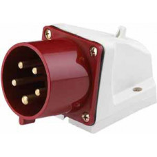 Вилка стационарная 525 3Р+РЕ+N 32А 380В IP44 ВС-102 a | 26024DEK | DEKraft