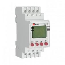 Реле контроля фаз с LCD дисплеем (с нейтралью) RKF-2S EKF PROxima   rkf-2s   EKF