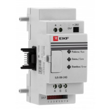 Модуль интерфейсный MODBUS TCP 24В PRO-Relay EKF PROxima | ILR-IE-24D | EKF
