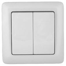 ПРИМА С/У Белый Выключатель 2-клавишный 6А (в сборе) (опт.упак.) | S56-043-B | Schneider Electric