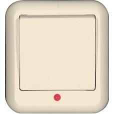 ПРИМА О/У Сл. кость Выключатель 1-клавишный с подсветкой 10А (в сборе) (индивид.упак.)   VA1U-111-SI   Schneider Electric