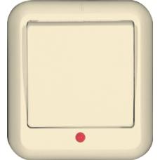 ПРИМА О/У Сл. кость Выключатель 1-клавишный с подсветкой 6А (в сборе) (опт.упак.)   A16-046-S   Schneider Electric