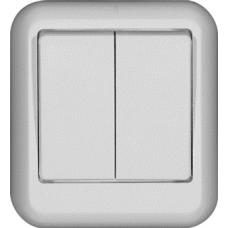 ПРИМА О/У Белый Выключатель 2-клавишный 10А (в сборе) (опт.упак.)   VA5U-214-B   Schneider Electric