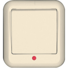 ПРИМА О/У Сл. кость Выключатель 1-клавишный с подсветкой 6А, с изолир. пластиной (в сборе) (индивид.упак.)   A16-046I-SI   Schneider Electric