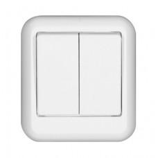 ПРИМА О/У Белый Выключатель 2-клавишный 6А (в сборе) (опт.упак.)   A56-029-B   Schneider Electric