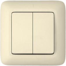 ПРИМА С/У Белый Выключатель 2-клавишный 10А (в сборе) (опт.упак.) | VS5U-218-B | Schneider Electric