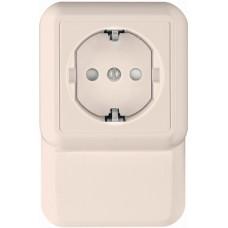 ПРИМА О/У Белый Розетка 1-ая с/з с защитными шторками 16А, плинтусная, монтажная пластина (в сборе)(индвид.упак.)   RA16-003-2M-BI   Schneider Electri