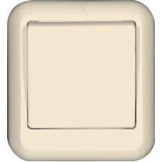 ПРИМА О/У Сл. кость Выключатель 1-клавишный 10А, с изолир. пластиной (в сборе) (индивид.упак.)   VA1U-112I-SI   Schneider Electric