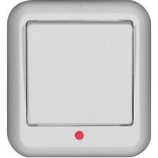 ПРИМА О/У Белый Выключатель 1-клавишный с подсветкой 10А, монтажная пластина (в сборе)(опт.упак.)   VA1U-111M-B   Schneider Electric