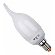 Лампа энергосберегающая КЛЛ 9Вт E14 827 свеча КЭЛ-CВ | LLE61-14-009-2700 | IEK
