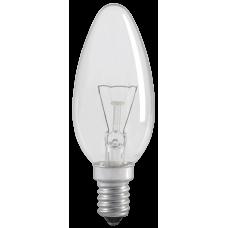 Лампа накаливания ЛОН 60Вт Е14 220В C35 свеча прозрачная   LN-C35-60-E14-CL   IEK