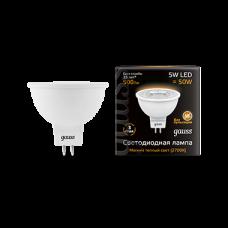 Лампа светодиодная LED 5Вт GU5.3 220В 2700К MR16   101505105   Gauss