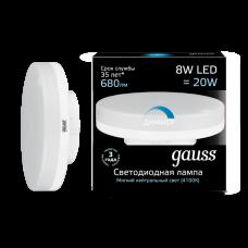 Лампа светодиодная LED 8Вт GX53 220В 4100К диммируемая | 108408208-D | Gauss