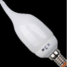 Лампа энергосберегающая КЛЛ 9Вт E14 865 свеча КЭЛ-CВ | LLE61-14-009-6500 | IEK