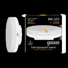 Лампа светодиодная LED 8Вт GX53 220В 2700К диммируемая | 108408108-D | Gauss