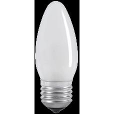 Лампа накаливания ЛОН 40Вт Е27 220В C35 свеча матовая   LN-C35-40-E27-FR   IEK
