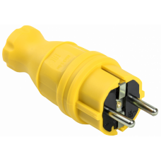 ВБп3-1-0м Вилка прямая ОМЕГА IP44 жёлтая | PKR01-016-2-K05 | IEK
