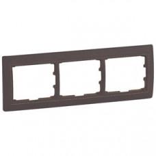 Galea Life Темно-коричневая Кожа/Leather Club Рамка 3-я гориз | 771997 | Legrand
