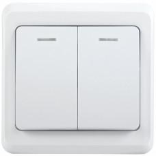 ВС10-2-1-ВБ Выключатель 2кл 10А с инд. ВЕГА (белый) | EVV21-K01-10-DM | IEK