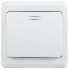 ВС10-1-1-ВБ Выключатель 1кл 10А с инд. ВЕГА (белый) | EVV11-K01-10-DM | IEK