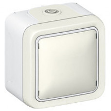 Plexo Белый Вывод кабельный с зажимом наружный монтаж (в сборе) IP20   069779   Legrand