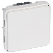 Plexo Arctic Антибактериальный Белый Выключатель 1-клавишный кнопочный IP55   070730   Legrand