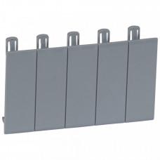Набор из 5 заглушек - для Plexo - разделяемая - серый R746A   001961   Legrand