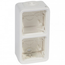 Plexo Arctic Антибактериальный Белый Монтажная коробка 2-ая вертикальная для наружного монтажа IP55   070743   Legrand