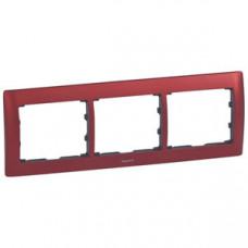 Galea Life Красный Металл/Magic Red Рамка 3-я гориз | 771903 | Legrand