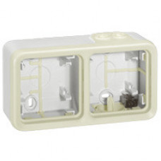 Plexo Белый Коробка 2-ая для наружного монтажа горизонтальная IP55 | 069690 | Legrand