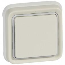 Plexo Белый Переключатель 1-клавишный внутренний монтаж (в сборе) IP55   069851   Legrand