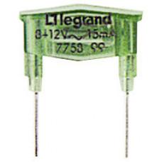 Galea Life Зелёная Лампа 220В-15 мA для подсветки механизмов | 775899 | Legrand