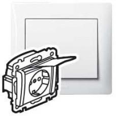 Galea Life Белый Розетка с/з, с крышкой, с защитными шторками | 771064 | Legrand