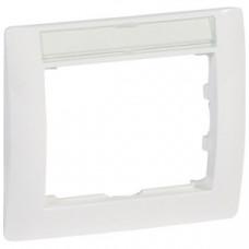 Galea Life Белый Рамка 1 пост с держателем этикеток | 771013 | Legrand