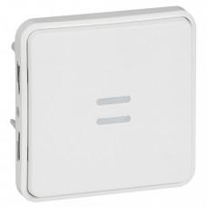 Plexo Arctic Антибактериальный Белый Выключатель 1-клавишный кнопочный с подсв. IP55   070732   Legrand