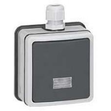 Plexo Серый Выключатель 1-клавишный кнопочный с подсв. накладной (в сборе) 10А IP66   090462   Legrand