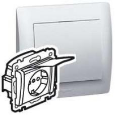 Galea Life Белый Розетка IP44 немецкий стандарт 2К+3 автоматические клеммы | 771027 | Legrand