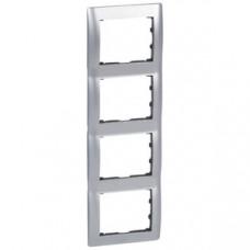 Galea Life Тертый Алюминий/Brushed Aluminium Рамка 4-я верт | 771958 | Legrand